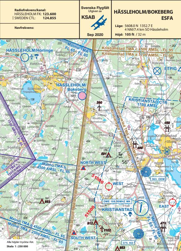Flygplatsblad ESFA framsida